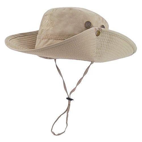 f90b39b4 LETHMIK Outdoor Waterproof Boonie Hat Wide Brim Breathable Hunting Fishing  Safari Sun Hat