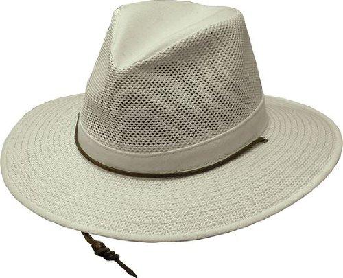 3cd3cf30eccff7 Henschel Men's Polycotton Packable Mesh Breezer Safari Hat, Large, Natural