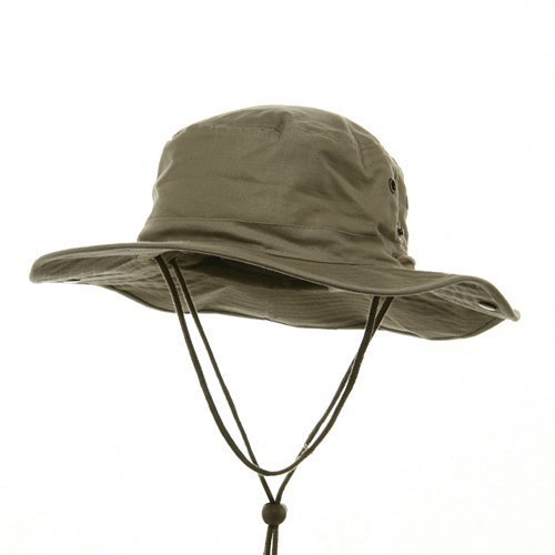 Size 6 3//4-7 1//2 Adjustable Khaki Brown CAP Neck SUN Cover Bucket Back UNISEX