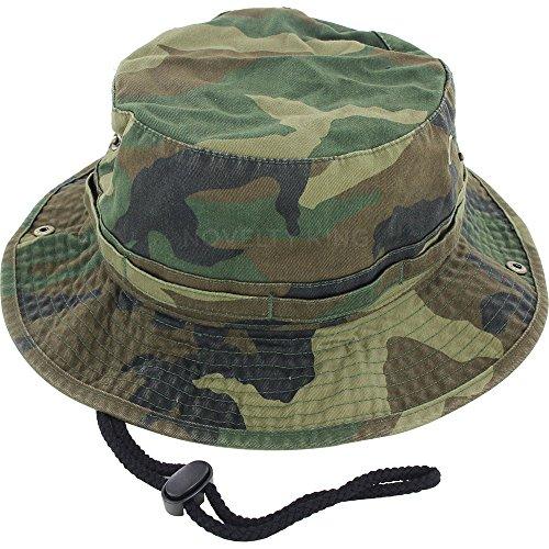 f1b4d8930bc DealStock 100% Cotton Boonie Fishing Bucket Men Safari Summer String Hat Cap  15+ Colors