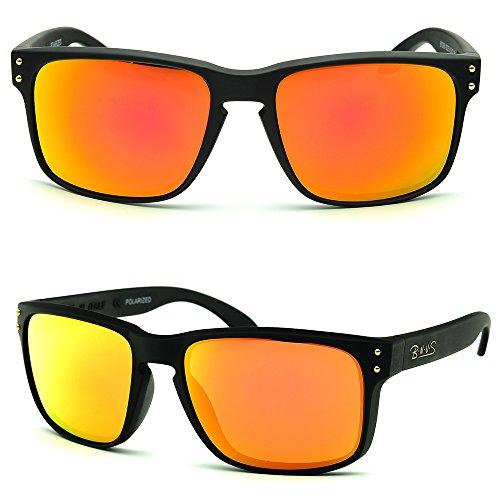 3056ea0023 BNUS Italy made Classic Sunglasses Corning Real Glass Lens w. Polarized  Option Frame  Matte Black