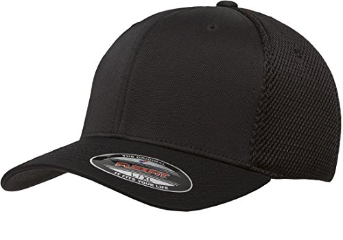 39f0f914a31 Black - Premium Original Blank Flexfit Ultrafibre Mesh Fitted Hat Cap Flex  Fit 6533 Small   Medium