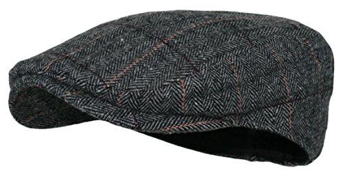 Winter Warm Adjustable Gatsby Hat Irish Ivy Flat Cap Mens Cable-Knit Newsboy Cap