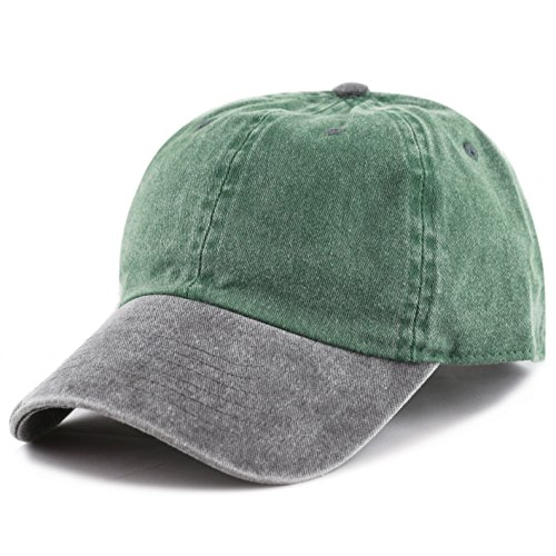 Green and Black Snapback//Adjustable Cap Brand NEW Plain Two//tone