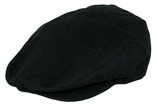 bb812895083 Men s Premium Wool Blend Classic Flat Ivy Newsboy Collection Hat  1581-Black