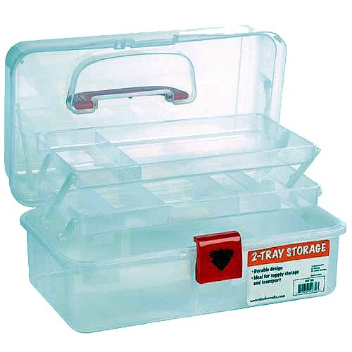 Also Features A Deep Bulk Storage Bin Under The Trays For Larger Items.  Plenty Of Room For Tool And Paint Storage. 12 Inch Wide Storage Box  Features 2 ...
