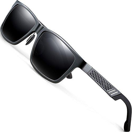 a744312880 ATTCL Men s Hot Retro Al-Mg Metal Frame Driving Polarized Wayfarer  Sunglasses For Men Women 16560graygray