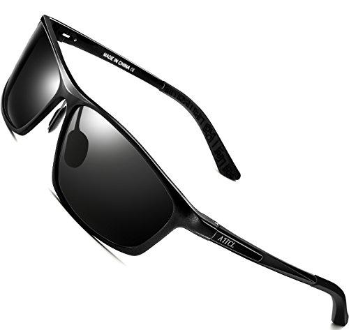 ce1d74201a2 ATTCL Men s Al Mg Metal Frame Polarized Driving Fishing Golf Sunglasses For  Men 16520 black