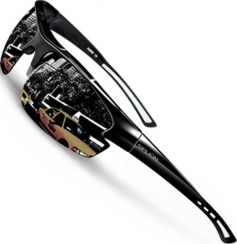 5c421620c2 ... Cycling Fishing Golf TR90 Superlight Frame 502 BLACK. Polarized  sunglasses reduce glare reflected off of roads