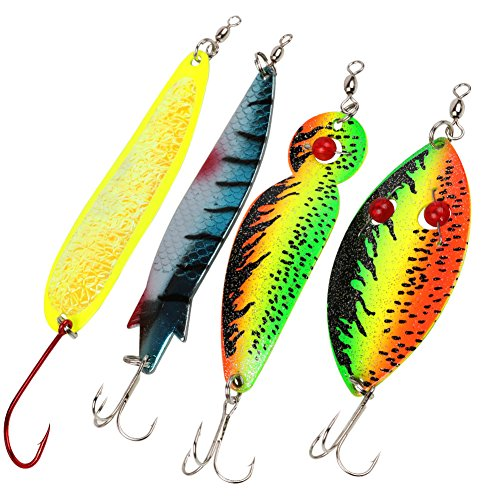 8Pcs Fishing Lures for Bass Trout Walleye Salmon-Assorted Metal Spinner Bait