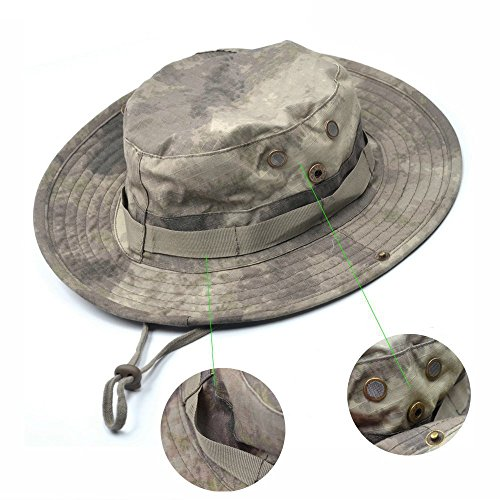 squaregarden Military Camo Adjustable Boonie Hat Hunting Bucket Hats ... f77fea4a8a7
