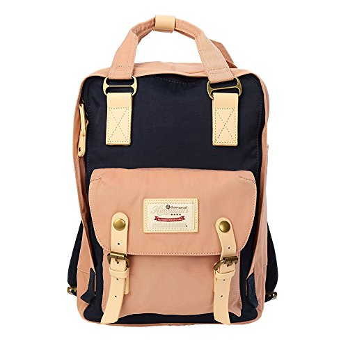 Laptop Backpack Lightweight Waterproof Travel Backpack Double Zipper Design with Tiger Skin Texture School Bag Laptop Bookbag Daypack for Women Kids