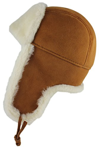 c915e2996aa15 This style sheepskin hat is made with double face sheepskin. The best  seller winter fur hat on amazon. Black and solid black colors are available  for FBA ...