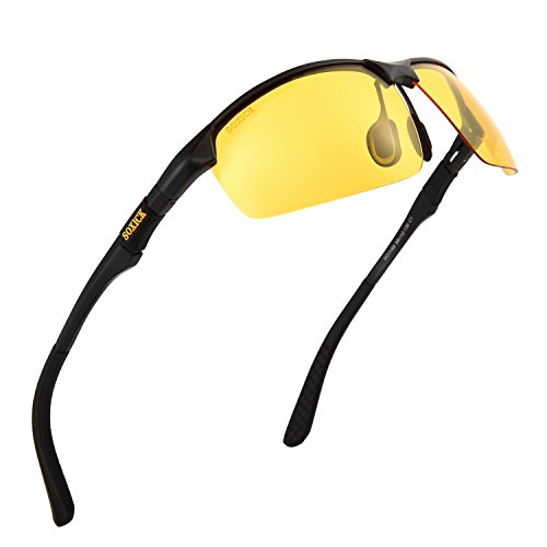 4332717d5381 Manneco Men s HD Polarized Anti-Glare Safety Glasses for Night Driving and  outdoor activities