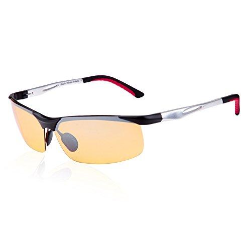 89bb5f444f Duco Yellow Night-vision Glasses Anti-glare Driving Eyewear Polarized HD  Night Driving Sunglasses Aviator Sport Glasses 2181