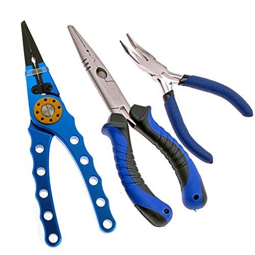 """Sea Striker side cutter fishing pliers 6/"""" Blue /& Black Coated Handle"""