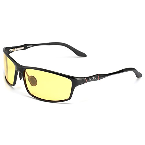 6c3776b69a1 Polarized Night Driving Glasses Anti Glare Safety HD Night Vision  Sunglasses Black Frame2