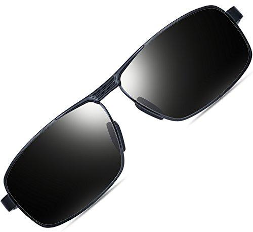 9c804810de1 ATTCL Men s Metal Frame Driving Sport Polarized Sunglasses For  Men12490black-gray