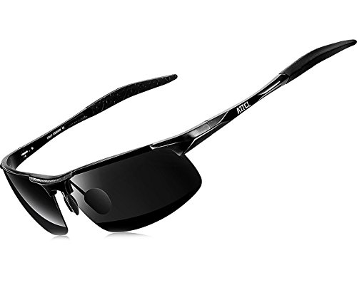 691205af49f ATTCL New Fashion Driving Polarized Sunglasses for Men Unbreakable-metal  Frame 18177black