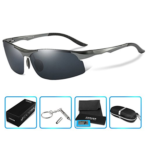 2e13049706f COSVER 8003 Men s Sports Style Polarized Sunglasses for Driving Fishing  Golf Glasses