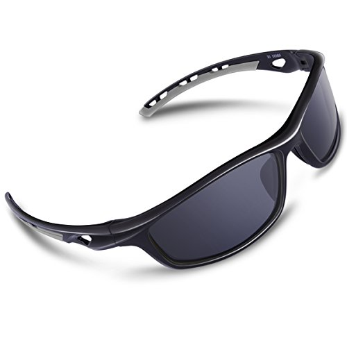 74672dfe45 RIVBOS Polarized Sports Sunglasses Driving Sun Glasses for Men Women Tr 90  Unbreakable Frame for Cycling Baseball Running Rb833 Black Grey. Rivbos  provides ...