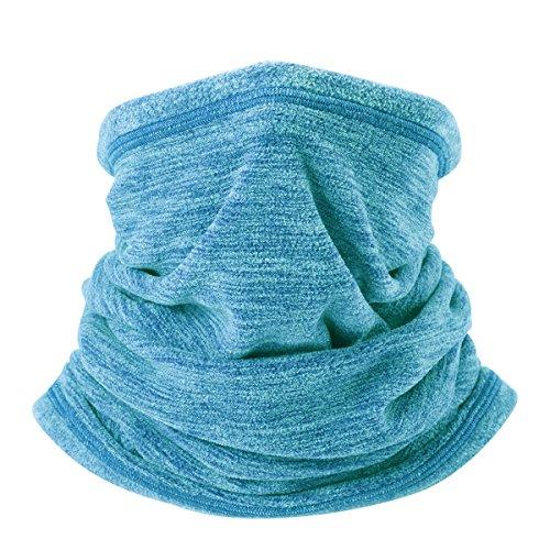 4 Pieces Kids Warmer Neck Gaiter Face Scarf Mask Fleece Dust Neck Gaiter Neck Cover