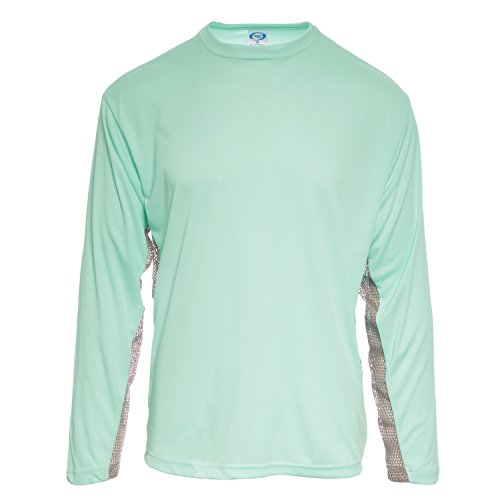 3094d01613d7 Baleaf Men s UPF 50+ Outdoor Running Long Sleeve T-Shirt Blue Size L ...