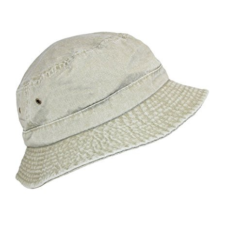 6dd4bb6d5ef The Hat Depot 300N Unisex 100% Cotton Packable Summer Travel Bucket ...