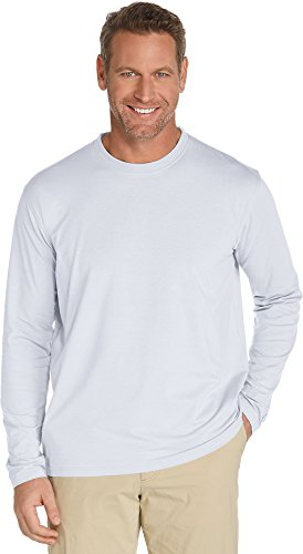 f26b4f9e2eed6 Coolibar UPF 50+ Men s Long Sleeve T-shirt - Sun Protective X-Large- White