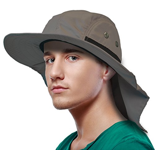 Sun Blocker Outdoor Sun Protection Fishing Cap with Neck Flap for ... d244fa4ab6b8