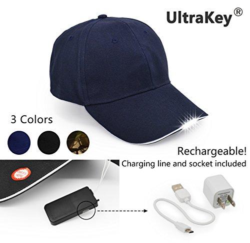 LED Cotton Adjustable Baseball Cap Headlight Hat Night Fishing Camping Jogging