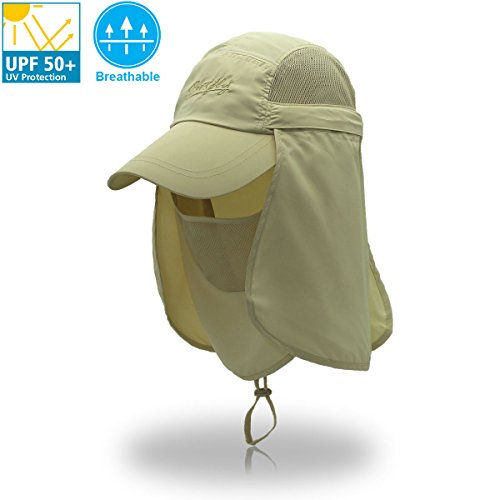 Folding Fishing Hat Quick Dry Sun Hat Outdoor 360/° UV Sun Cap 3 In 1 Sun Pretection Set Ladies Wide Brim Hat with Shawl Summer Beach Hat Womens Sun Visor Hat with Neck Protection Shield UPF 50