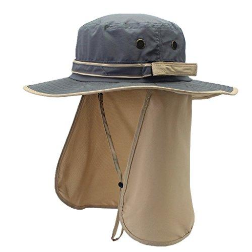 9c9eabd0d77c2 Home Prefer Mens UPF 50+ Sun Protection Cap Wide Brim Fishing Hat ...