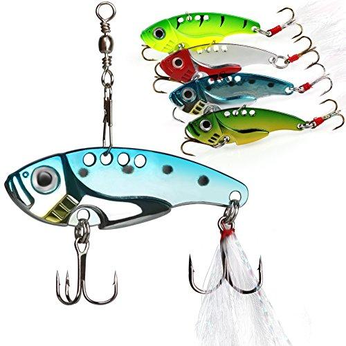 Fishing Hard Spinner Lure Spinnerbait Pike Bass 16.3g//0.57oz ER