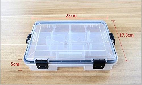 Tackle Box Beads Hooks Organizer Waterproof Pocket Size Small Practical