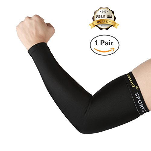 Sun Sleeves Arm Sleeves Arm Warmer 8 Pairs for Men Women Moisture Wicking Stretch Volleyball Basketball Baseball