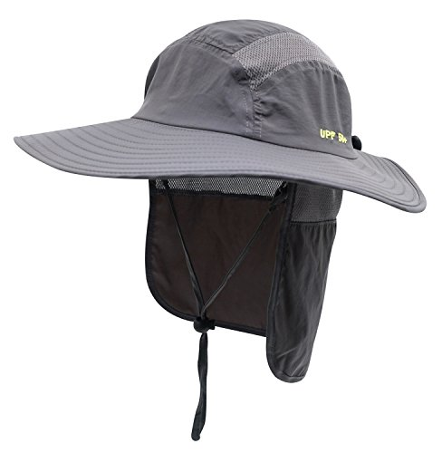 37b6ba2552baa Home Prefer Mens UPF 50+ Sun Protection Cap Wide Brim Fishing Hat with Neck  Flap