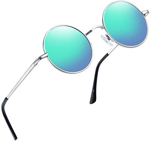 Purple Lens Hipster Vintage Retro Mens Womens Small Rectangle Sunglasses E71