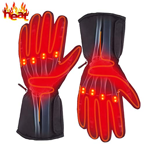 Electric Heated Gloves Outdoor Sport Rechargeable Battery Warm Waterproof Gloves