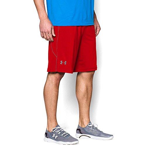 Under Armour Mens Heat Gear UA Tech Mesh Loose Shorts Steel Red 600