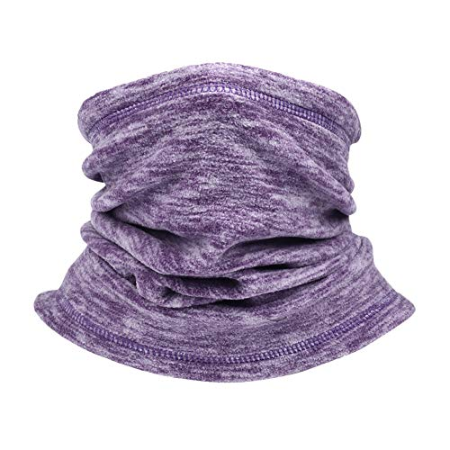 SYOURSELF Neck Warmer Gaiter,1 Pack Fleece Ski Winter Balaclava Face Mask Scarf Cover for Cold Weather Windproof Winter Motorcycle Purple