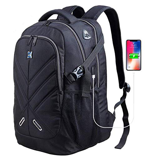 "Waterproof 17/"" Men Backpack Laptop Bags Travel School Bookbag With USB Port"