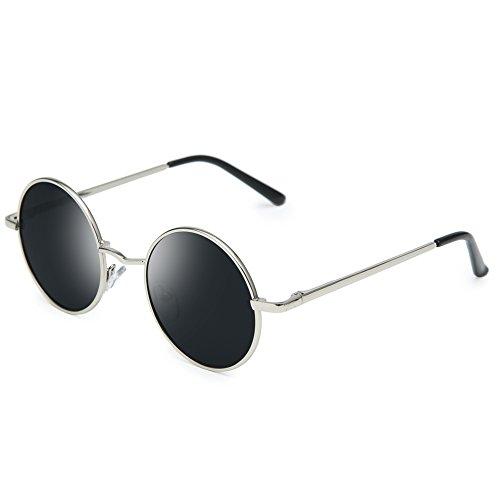 Men Women Retro Hippie Circle Steampunk Sun Glasses Joopin Polarized Lennon Round Sunglasses