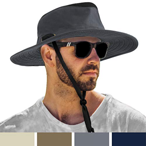 US Outdoor Boonie Sun Hat Neck Flap Wide Brim Fishing Hiking 6 Colors Summer Hat
